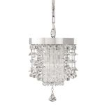 "Fascination Collection 2-Light 13"" Chrome Plated Mini Pendant with Crystal Accents 21849"