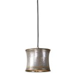 "Marcel Collection 1-Light 9"" Metallic Champagne Mini Pendant 21850"