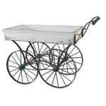 Generosa Collection Weathered Flower Cart 26128