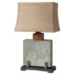 Slate Square Table Lamp - 26321-1