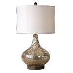 "Vizzini 1-Light 25"" Antiqued Crackled Water Glass Table Lamp 26453-1"