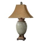 "Kayson Collection 1-Light 37"" Green Mosaic Table Lamp 26516"