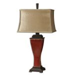 "Abiona Collection 1-Light 33"" Red Table Lamp 26740"