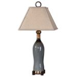 "Neela Collection 1-Light 36"" Gray Table Lamp 26747"