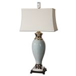 "Rossa Collection 1-Light 39"" Light Blue Table Lamp 26783"