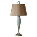 "Lilia Collection 1-Light 32"" Light Blue Table Lamp 26788"