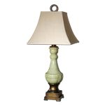"Ceralto Collection 1-Light 35"" Green Glaze Table Lamp 26795"