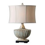 "Civitella Collection 1-Light 25"" Blue Ceramic Lamp 26826-1"