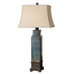 "Soprana Collection 1-Light 37"" Blue Table Lamp 26833"
