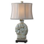 "Norrisia Collection 1-Light 31"" Light Blue Table Lamp 26846"