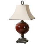 "Anka Collection 1-Light 32"" Red Table Lamp 26855"