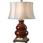"Villalago Collection 1-Light 31"" Red Table Lamp 27426"