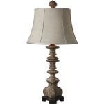 "Nerio Collection 1-Light 32"" Gray Table Lamp 27435"