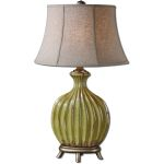 "Carentino Collection 1-Light 33"" Green Table Lamp 27454"