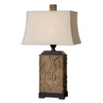 "Calvina Collection 1-Light 34"" Metal Table Lamp 27669"