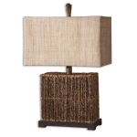 "Barbuda Collection 1-Light 27"" Palm Braches Table Lamp 27994-1"