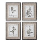 Casual Grey Study Collection Framed Art (Set of 4) 32510