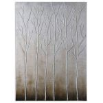 Sterling Trees Collection Hand Painted Art 35105