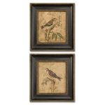 Colorful Birds On Branch I Ii -S/2 - 41161