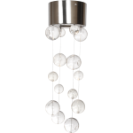 Rain Drops Collection 1-Light 4In. Satin Nickel Flush Mount
