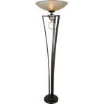 1-Light 72In. Silver Jacobean / Cafe Noir Floor Lamp