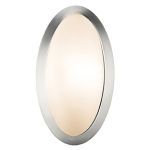 "Cobalt Collection 6"" 1-Light Brushed Steel Wall Sconce with Opal Glass 20421-BS/OPL"
