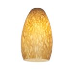 "Inari Silk Collection 5"" Amber Mist Glass Shade 23112-AMST"
