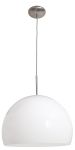 "Acrolite Collection 18"" 1-Light Brushed Steel Pendant with White Acrylic Glass 23760-1C-BS/AWH"