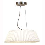 "Leilah Collection 2-Light 17"" Scalloped Glass Cable Pendant 50958-BS/WH"