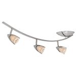 "Comet Collection 10"" 3-Light Brushed Steel Spotlight with Opal Glass 52034-BS/OPL"