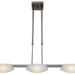 "Nido Collection 5"" 3-Light Oil Rubbed Bronze Semi-Flush/Pendant with Frosted Glass 63957-ORB/FST"
