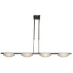 "Nido Collection 5"" 4-Light Matte Chrome Semi-Flush/Pendant with Frosted Glass 63958-MC/FST"