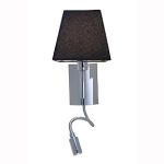 "Cyprus Collection 9"" 1-Light Chrome Task Lamp with Black Glass 70016LED-CH/BL"