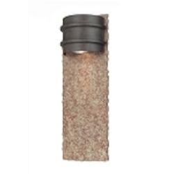 "Bamboo Collection 1-Light 16"" Bronze Indoor/Outdoor Wall Sconce with Natural Slate B1853BB"