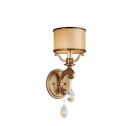 "Roma Collection 1-Light 6"" Antique Roman Silver Wall Sconce with Cream Ice Glass and Crystal Accents 71-61"