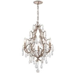 "Amadeus Collection 3-Light 20"" Vienna Bronze Chandelier with Italian Glass Drops 163-03"