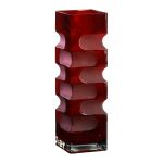 Large Ruby Etched Vase 01824