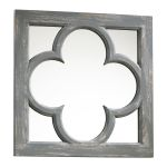 "Ashwell 17"" Wide Distressed Gray Wood Wall Mirror 04280"