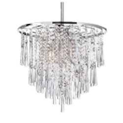 "Josephine Design 8-Light 20"" Chrome Hanging Pendant with European or 30% Lead Crystals SKU# 12053"