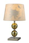 "Trendsitions Collection 16"" Sharon Hill Table Lamp In Green Smoked Glass And Polished Nickel - D1610"