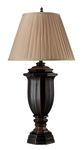 "Legacies Collection 38.5"" Belmont Table Lamp In Italian Black With Bronze Highlights - D1753"