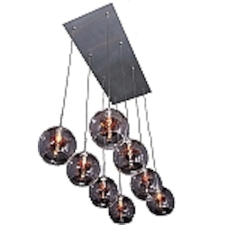 Amber Stars 8 Light 24in. Wide Pendant from the Starburst Collection