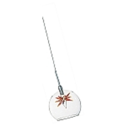 Amber Stars 1 Light 4in. Wide Pendant from the Starburst Collection