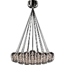 Amber Stars Starburst Single-Tier Chandelier With 37-Lights
