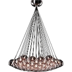 Amber Stars 37 Light 33in. Wide Chandelier from the Starburst Collection
