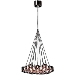 Amber Stars 19 Light 20in. Wide Chandelier from the Starburst Collection