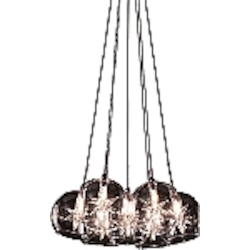 Amber Stars Seven Light Down Lighting Pendant From The Starburst Collection