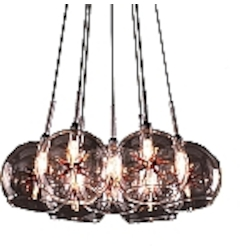 Amber Stars 7 Light 12in. Wide Pendant from the Starburst Collection