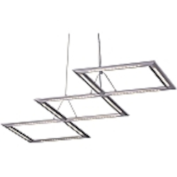 Helix Collection Contemporary Satin Nickel finish LED Pendant - E20942-10
