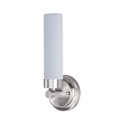 Satin Nickel Single Light Up Lighting ADA Wall Sconce from the Cilandro Collection